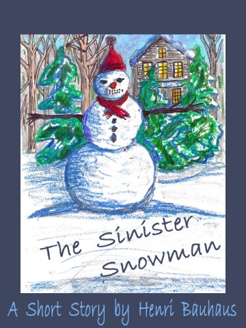 E-book cover for the Sinister Snowman
