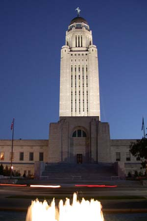 Nebraska State Capitol at Night